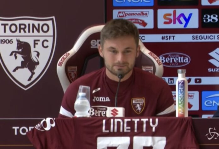 Linetty in conferenza stampa